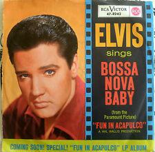 """7"""" 1969 VG++! ELVIS PRESLEY Bossa Nova Baby + Witchcraft"""