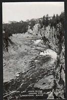 Postcard RPPC Grand Falls New Brunswick Canyon St John River Near Limestone ME