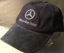 Mercedes-Benz Suede Leather / Canvas Indigo Adjustable Baseball Cap