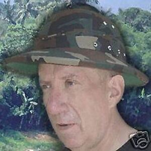 Details about Woodland Camo U S  Style Army Military Pith Helmet