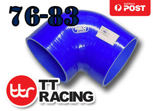 Silicone-Joiner-90-Degree-BOV-Reducer-Elbow-Turbo-Hose-76mm-83mm-3-034-3-25-034-BL