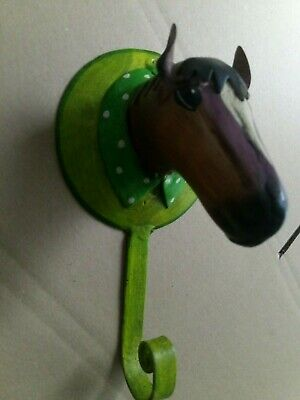 Garderobenhaken Metall Pferd Kleiderhaken Wandhaken Pape Kunstgewerbe