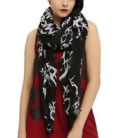 My Chemical Romance Tossed All Over Print Sheer Scarf With Tags