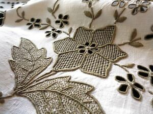 Densely-Embroidered-Antique-Madeira-Linen-Round-Tablecloth-68-034