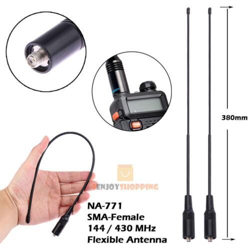 2Pcs NA-771 High Gain SMA-Female Radio Antenna for Baofeng UV-5R KG-UVD1