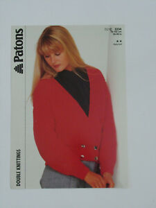 "Ladies Lace Border Cardigan Knitting Pattern V-neck DK 30-40/"" 1100"