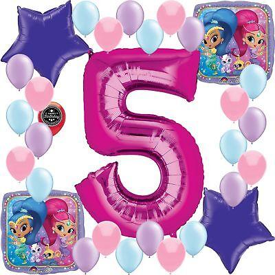 Shimmer Shine Party Supplies Happy Birthday Balloon Decoration Bundle