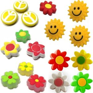 Emoticon blume  ⚡ Rainbow Loom 3D Flower(Hibiscus) Charms emoji