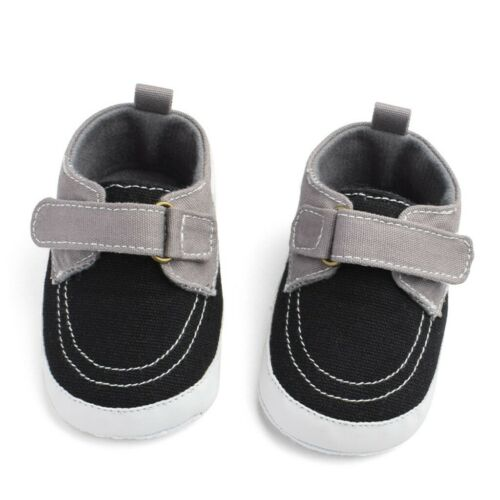 Toddler Baby Kids Boys Soft Sole Canvas Prewalkers Crib Shoes Anti-slip Sneakers