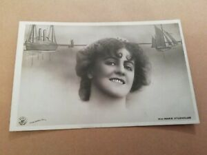 MISS-MARIE-STUDHOLME-EDWARDIAN-ACTRESS-VINTAGE-B-amp-W-POSTCARD-UNPOSTED