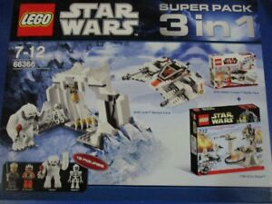 Lego Star Wars 66366 Superpack 3 Sets En 1 Hoth 8089 8083 7749 Nouveau Ovp