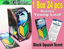 1 Box 24 pack Treefrog Wakaba YOUNG LEAF Car Air Freshener Black Squash Scent
