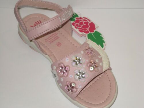 Lelli Kelly Mandorlo VF1250 Pink White Sandals Shoes NEW Hand Beaded
