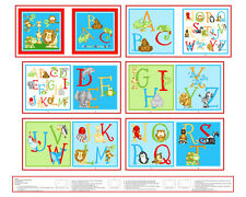 Hungry Animal Alphabet 36in Panel Fabric Ebay