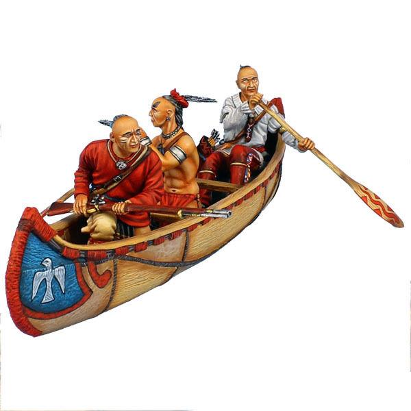Första legionen  AWI099 träland Indian Canoe Set
