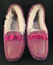 UGG Australia ANNMARIE SLIPPER ~ METALLIC FUCHSIA PINK ~ YOUTH 4 Used