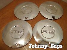 Boyds Wheels Polished Center Cap Custom Boyds Wheel Aluminum Center Caps (4)