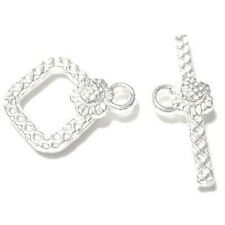 10 Sets 20x21mm Silver Plated Alloy rhombus Toggle Clasps - A6620