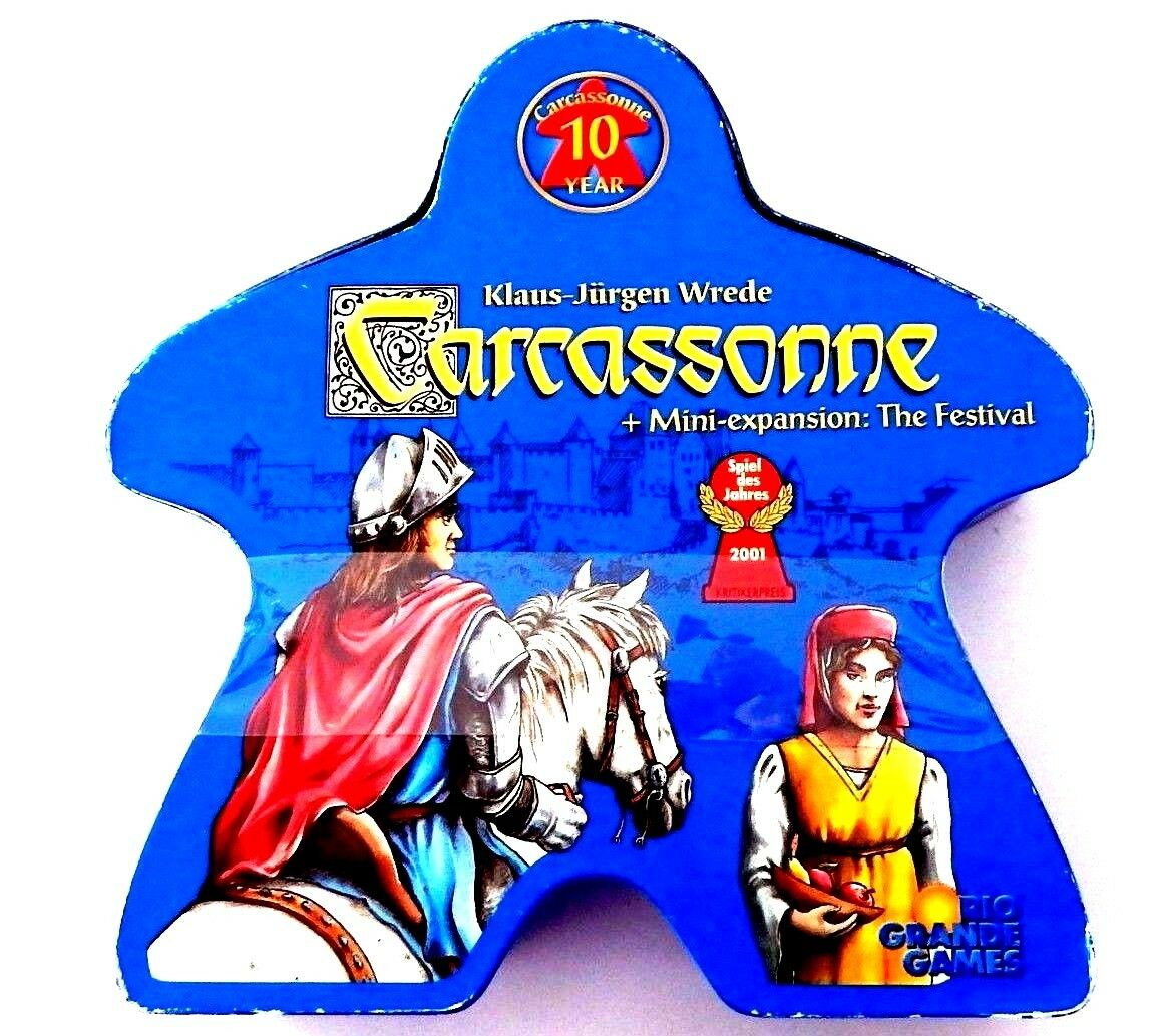 Rio Grande Games Carcassonne 10 aniversario Ed (2011) Paquete Sellado, desgaste