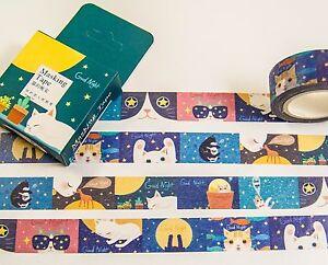 Masking-Washi-Tape-Katzenzeichnung-10-m-x-15-mm