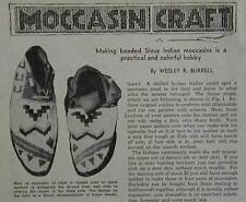 How-To make Sioux Indian Beaded Moccasin BUCKSKINNERS original 1949