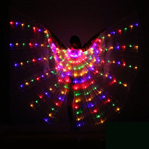 LED Womens Isis Wings Glow Light Up Belly Dancing Club Costumes New #