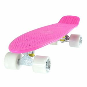 Cruiser-Skateboard-55-9CM-ROSA-Tavoletta-Solido-Bianco-RUOTE