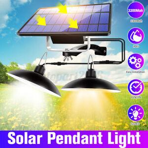 Double-Head-Solar-Pendant-Lights-Indoor-Outdoor-Hanging-Shed-Lamp-Detector