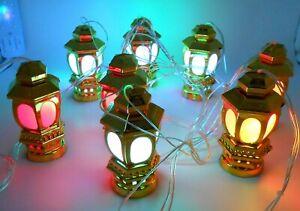 Islamic Light up Indoor Decoration lantern 9 – Ramadan Kareem Decoration silver