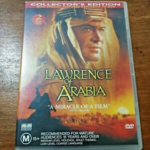 Lawrence of Arabia DVD Collectors Edition R4 Like New! – FREE POST 2 Disc Set