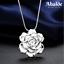 Collar-Colgante-Joya-Mujer-Diseno-Flor-Plata-Accesorio-Regalo-Dia-de-la-Madre miniatura 3