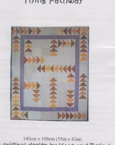 CLEARANCE pieced quilt PATTERN Flying Pathway Kate /& Belinda Quilts