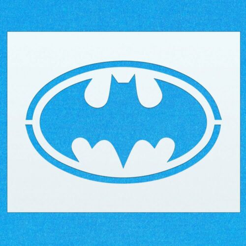 Batman Flying Badge Sign Hero Mylar Airbrush Painting Wall Art Crafts Stencil 4