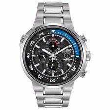 Citizen Eco-Drive Men's CA0440-51E Endeavor Chronograph Black Dial 46mm Watch