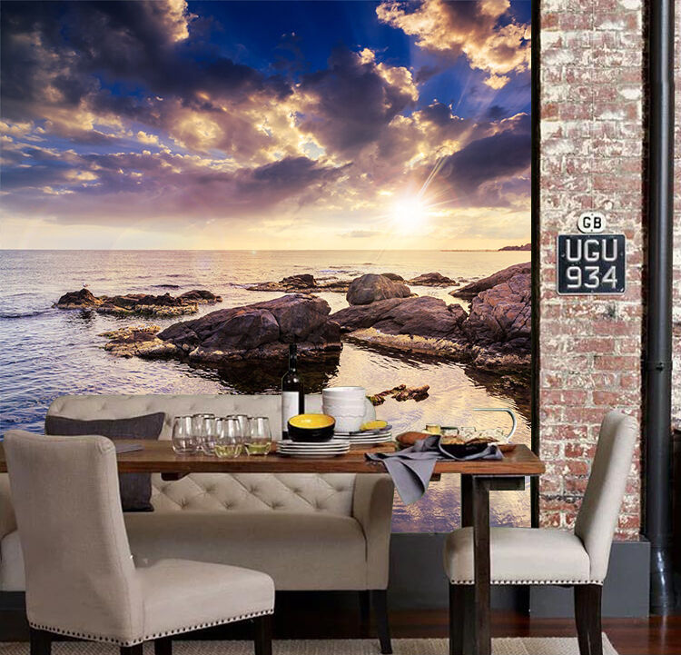 3D Peace Sea Bright Sun 1675 Paper Wall Print Wall Decal Wall Deco Indoor Murals