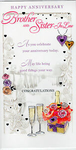 Happy Anniversary Brother Sister In Law Anniversary Card