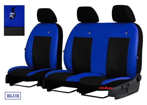 Eco-cuero Tailored fundas de asiento 2+1 para Opel Vivaro de 2001-2014