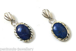 9ct White Gold Lapis Lazuli Drop earrings Made in UK Gift Boxed - <span itemprop=availableAtOrFrom>GB, United Kingdom</span> - We offer a 30 day money back guarantee if you are not happy with your purchase (excludes earrings). Buyers must notify us in writing within 30 days of receipt (email acceptable). Return postag - GB, United Kingdom