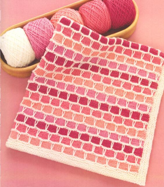 """Baby Bricks Blanket ~ Slip Stitch 33"""" x 32""""  Knitting Pattern"""