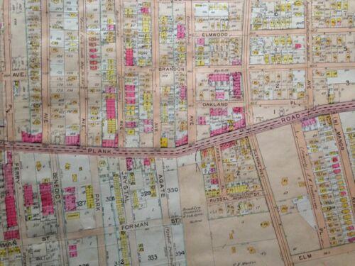 65 QUEENS NY PLAT COPY ATLAS MAP 1907 BELCHER HYDE DEXTER PARK WOODHAVEN P.S