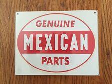 Genuine Mexican Parts Auto Car Club Los Angeles CA Lowrider Vintage Metal Sign