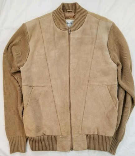 MISTER MARR Vintage 1970s Tan Suede Knit Jacket Men's Medium