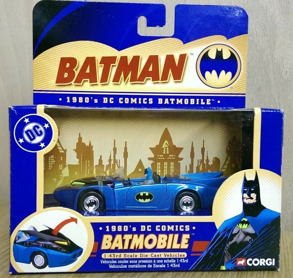Corgi 77307 Batman DC Comics 1 43 1980's Batmobile