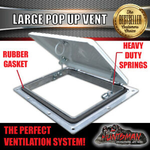 Image Is Loading Large White Pop Up Roof Air Vent Trailer
