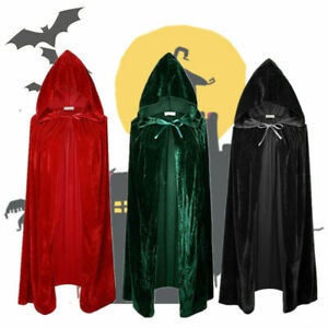 Halloween-amp-Christmas-Hooded-Cloak-Robe-Medieval-Witchcraft-Cape-Robe-Costume