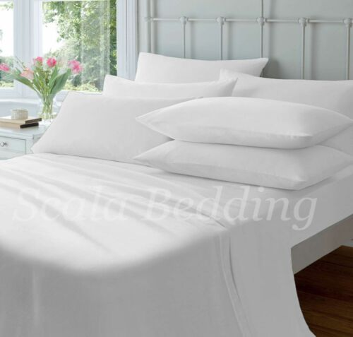 New Bed Collection White Solid Queen Size 1000-TC 100/% Egyptian Cotton Sheet Set