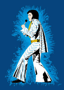 Elvis Presley - Cool Elvis - Original (signed) art print - Jarod Art