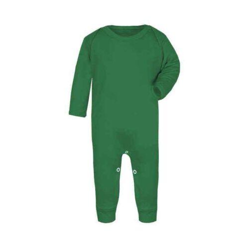 Plain Emerald Green Baby Romper Rompersuit Babygrow Bodysuit 100/% Cotton