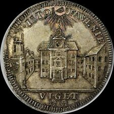 Radiant Eye of God, Scarce 1730 Germany St. Anna, Von Boerer Silver Medal, Toned