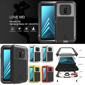 online store d4f10 fb62d Details about For Samsung Galaxy A6/A6+ LOVE MEI Waterproof Metal Case  Cover Glass Protector